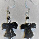 Black Elephant Earrings - Item #E490