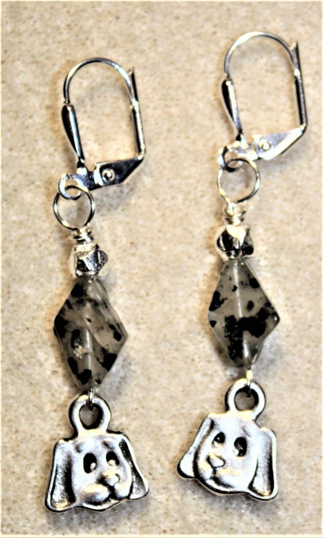 Puppy Face N' Glass Earrings - Item #E491
