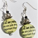 """We All Have Problems"" Earrings - Item #E515"