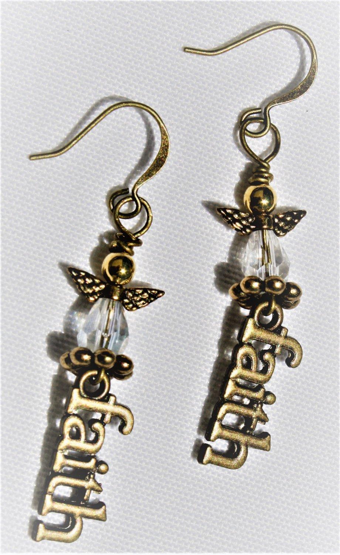 Angels and Faith Earrings - Item #E521
