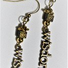 Golden Wisdom Earrings - Item #E522