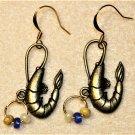 Accented Shrimp Earrings, Design 38 - Item #E531