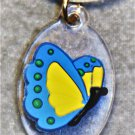 Blue N' Yellow Butterfly Necklace - Item #CHNK10