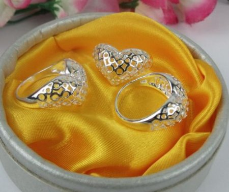 Heart Design Ring- .925 Sterling Silver