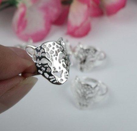 Leopard Head Design Ring- .925 Sterling Silver