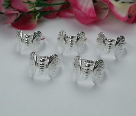 Solid Butterfly Design Ring- .925 Sterling Silver