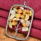 Pendant Natural Orange Aventurine Gemstone .925 Sterling Silver