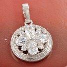 Deluxe Austrian Crystal Pendant .925 Sterling Sliver