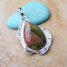 Pendant Natural Green Edge Agate Gemstone