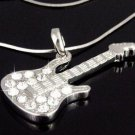 Rock Guitar Necklace w/ Swarovski Crystals