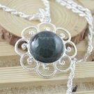 Necklace Fancy Botswana Agate Gemstone .925 Sterling Silver