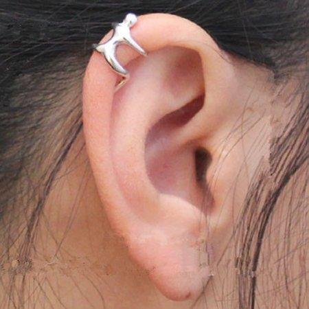 Ear Wrap Cuff .925 Sterling Silver - Human Ear Climber