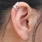 Ear Wrap Cuff .925 Sterling Silver - Human Ear Climber