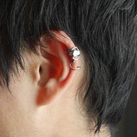 Ear Wrap .925 Sterling Silver - Lizard Gecko