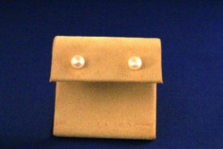 Earrings - 6 mm Black, Peach Or White Freshwater Pearl 925