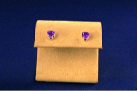 Earrings - Choice Of Gem Stone - Heart .925 Studs