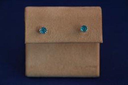 Earrings - Choice Of Gem Stone - 12 Prongs .925 Studs