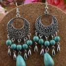 Earrings Dangle Turquoise - .925 Sterling Silver Long 3""