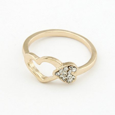 Heart Cluster Ring - 9k Gold Filled Austrian Crystals