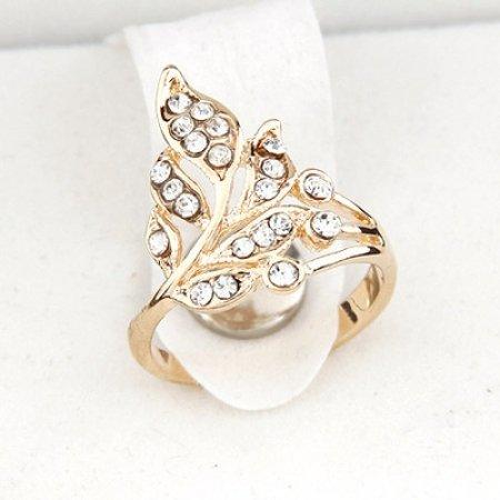 Flower Cluster Ring - 9k Gold Filled Austrian Crystals