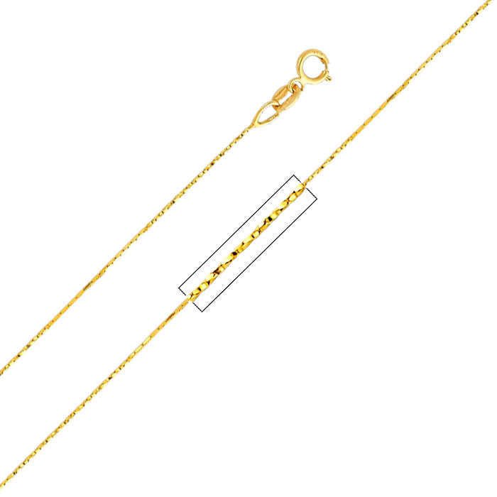 """Gold Plated Cobra Necklace Chain- 16"""" Long"""