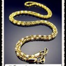 "Gold Plated Snake Necklace Chain - 21"" Long"