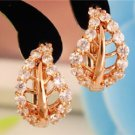 Stud Earrings 9k Gold Filled Crystal Leaf - Sweet Pair