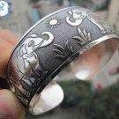 German Silver Bracelet. Design: Lucky Elephants #35
