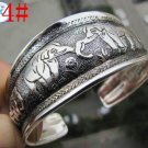 German Silver Bracelet. Design: Engaged Elephants #24