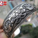 German Silver Bracelet. Design: Scrolled Flowers  #22