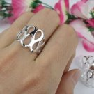 Figure 8 Design Ring- .925 Sterling Silver