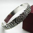 German Silver Bracelet. Design: Eye Of The Flower #03
