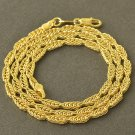 "19.3"" 9K Yellow Gold Filled Snake Chain Necklace Unisex"