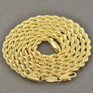 "31.5"" 9K Yellow Gold Filled Rope Chain Necklace Unisex"