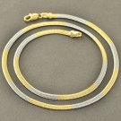 "17.7"" 9K Yellow/White Gold Filled Women's Snake Chain Necklace"