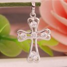 925 Sterling Silver Gemstone Wonderful Cross Pendant