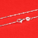 "16"" Italian .925 Sterling Silver Pillars Ball  Chain"