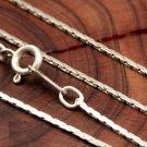 "18"" Italian .925 Sterling Silver Flat Cobra Chain"
