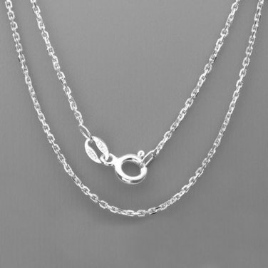 "30"" Italian .925 Sterling Silver Cable Link Chain"