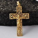 Cross Jesus Crucified Pendant - 9K Gold Filled