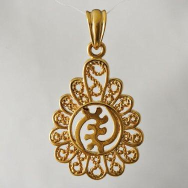 14k Yellow Gold Filled Flower Pendant