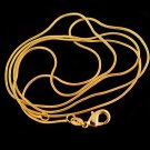 "26"" 18K Gold Filled Unisex Snake Chain  Necklace"
