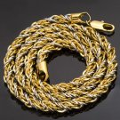 "18"" 18K Gold Filled / .925 Sterling Silver Rope Necklace"