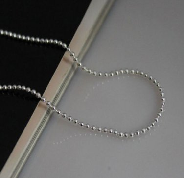 "28"" Italian .925 Sterling Silver Bead / Ball Chain"
