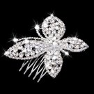 Butterfly Crystal Hair Comb Slide Crystal Clip Wedding Bridal Headpiece