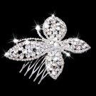 Butterfly Crystal Hair Comb Slide Crystal Clip Wedding Bridal Headpiece