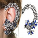SILVER HUMMINGBIRD CZ CRYSTAL EAR CUFF