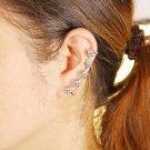 CZ Crystal Star Ear Cuff Clip Sterling Silver