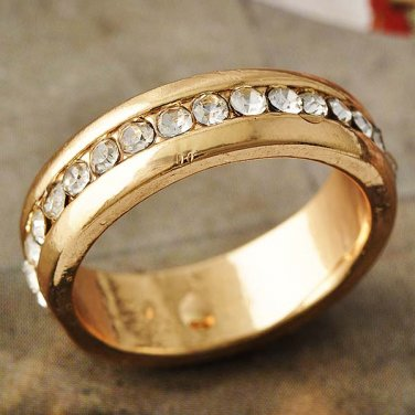 Sparkling CZ 14k Gold Filled Ring Engagement Band