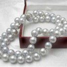 AAA 8mm Gray Akoya Sea Pearl Necklace 18''